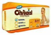 Chikool подгузники M (7-13 кг) 24 шт.