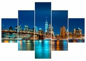 Модульная картина Ekoramka Манхеттен, мосты