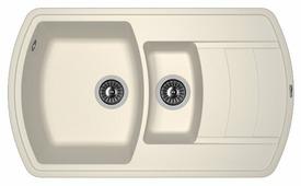 Врезная кухонная мойка FLORENTINA Нире-860К 86х51см искусственный гранит