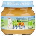 Пюре БИБИКОЛЬ абрикос, яблоко и козий творожок (с 6 месяцев) 80 г, 1 шт.
