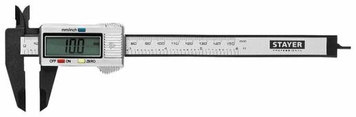 Цифровой штангенциркуль STAYER 34411-150 150 мм, 0.1 мм