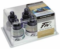 Чернила для перьевой ручки Daler-Rowney FW Artists Shimmering Colours Set