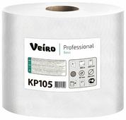 Полотенца бумажные Veiro Professional Basic KP105 белые однослойные