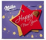 Набор конфет Milka Happy New Year из молочного шоколада с ореховой начинкой 110 г