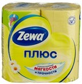 Бумага туалетная ZEWA Плюс Аромат ромашки 4 рулона (4605331030304)