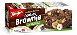 Печенье Bergen Brownie cookies with Hazelnut 126 г