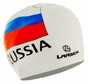 Шапочка для плавания Larsen Russia белый