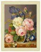 Алмазная живопись Набор алмазной вышивки Винтажный букет (АЖ-1512) 30х40 см