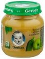 Пюре Gerber яблоко и кабачок (с 5 месяцев) 130 г, 1 шт