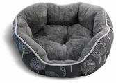 Лежак для кошек, для собак Triol Сказочный лес M овальный (31931043) 57х52х18 см