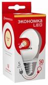 Лампа светодиодная Экономка Eco_LED5WGL45E2730, E27, G45, 5Вт