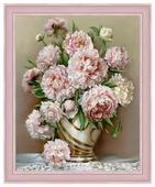 Алмазная живопись Набор алмазной вышивки Роскошные пионы (АЖ-1505) 40х50 см