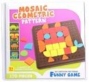 BeeZee Toys Геометрическая мозаика Сова 170 деталей, 20 шаблонов (M7H)