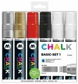Molotow Набор меловых маркеров 15 мм Chalk Basic set 1, 6 шт. (200476)