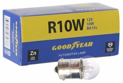 Лампа автомобильная накаливания GOODYEAR R10W 12V 10W 10 шт.