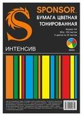 Бумага A4 100 шт. Sponsor цветная тонированная Интенсив