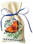 ZENGANA Набор для вышивания бисером и нитками Саше Аромат весны 8 × 15 см (М-022)