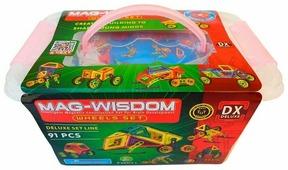 Магнитный конструктор Mag Wisdom 0091 Набор с колесами