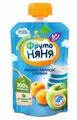 Пюре ФрутоНяня из яблок и абрикосов со сливками (с 6 месяцев) мягкая упаковка 90 г, 1 шт