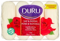 Мыло кусковое DURU PURE & NATURAL Роза