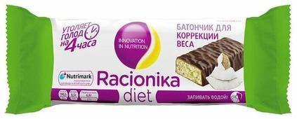 Протеиновый батончик Racionika Diet в шоколадной глазури Кокос 60 г
