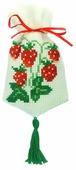 ZENGANA Набор для вышивания бисером и нитками Саше Клубника 9 х 15 см (М-033)