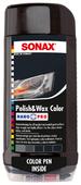 Воск для автомобиля SONAX цветной полироль с воском + карандаш Nano Pro (черный)
