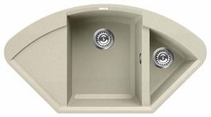 Врезная кухонная мойка elleci Easy Corner granitek 105.7х57.5см искусственный гранит