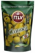 ITLV Оливки без косточки в рассоле, вакуумный пакет 195 г