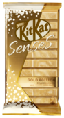 Шоколад KitKat Senses Gold Edition Deluxe Caramel and White Chocolate белый и молочный с вафлей