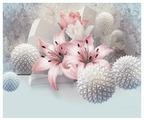 Фотообои флизелиновые Design Studio 3D Лилии с колючими шарами 3х2.5м