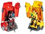 Робот-трансформер Jia Qi Поединки робокаров (2 гоночных машины)