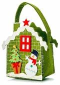 Пакет подарочный УРРА Новый год Домик Снеговик