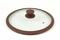 Крышка TimA стеклянная с силиконовым ободом 4822BR/BL (22 см)