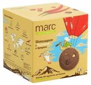 Печенье Marc 100% натурально Шоколадное с брусникой и фундуком, 50 г