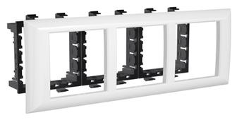 Лицевая накладка/ суппорт с рамкой для монтажа эуи в настенном кабель-канале DKC 4400916