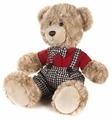 Мягкая игрушка Maxitoys Минка Ричард в клетчатых штанишках и красной рубашке 20 см