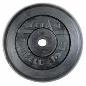 Диск TITAN обрезиненный d-26 мм 10 кг