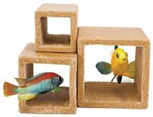 Фигурка для аквариума Penn-Plax Каменный куб 9.8х10 см