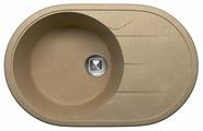 Врезная кухонная мойка Tolero R-116 77.5х50см полимер