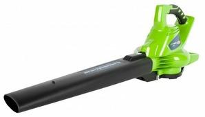 Аккумуляторный садовый пылесос greenworks GD40BVK6 24227 UF с АКБ и ЗУ