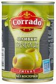 Corrado Оливки греческие гигант без косточки в рассоле, жестяная банка 420 г
