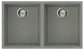 Врезная кухонная мойка smeg VZUM3434 76.3х43.8см искусственный гранит