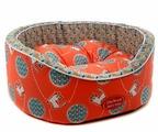 Лежак для кошек, для собак Родные места Премиум №1 Кот Персик (3428212) 43х38х15 см