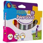 Little Brian Краски по ткани Без воды и кисточек в стиках 6 классических цветов (LBPS10FA6)