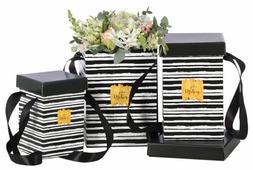 """Набор подарочных коробок Дарите счастье """"Акварельные полоски"""" 3 шт."""