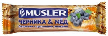 Злаковый батончик Musler Черника и мед, 6 шт