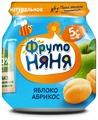 Пюре ФрутоНяня Из яблок и абрикосов (с 5 месяцев) 100 г, 1 шт