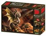 Пазл Prime 3D Пустынный дракон (10091), 500 дет.