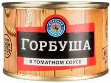 Морская Держава Горбуша в томатном соусе, 245 г